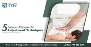 5 Common Chiropractic Adjustment Techniques